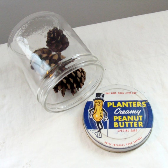Advertising Collectible Planters Creamy Peanut Butter Jar with Mr. Peanut Lid