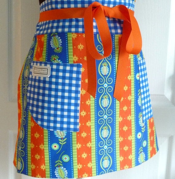 Womens Full Apron Adult Chef Hostess Michael Miller Fabric - Gypsy Road