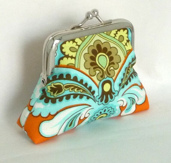 Coin Purse Wallet Change Purse Metal Framed Small Clutch - French Wallpaper