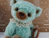 AQUA Snowflake Bear - Original Artist Bear by Lollihops. Chubby Little Handful of Fluff