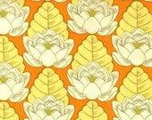 Tangerine Lotus Pond Cotton Quilting Fabric - Last 1 yard