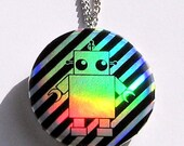 Holographic Robot Necklace