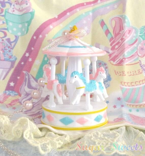 Fairy Kei Carousel Necklace