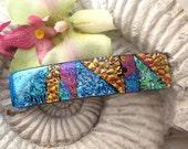 Barrette.  - Dichroic Glass Barrette - Hair Barrette - French Barrette - Fused Glass Barrette -   Hair Clip 052112b109