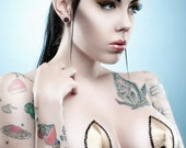 Geek Trek Gold Satin Burlesque Pasties