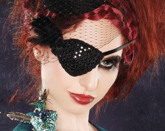 Black Feather Eye Patch