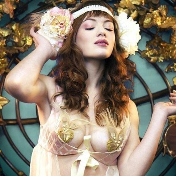 Lo-Pan's Desire Golden Peacock Burlesque Pasties