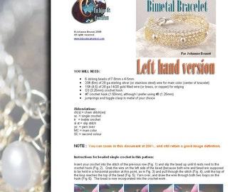 Bimetal Bracelet Tutorial (left hand version)