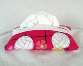 Volleyball Tissue Cozy - Sports Tissue Cover -  Pink Tissue Holder - Volley Ball Tissue Holder - Girls Sports Tissue Case
