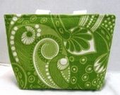 Paisley Mini Tote Purse Lime Green Great Gift Bag