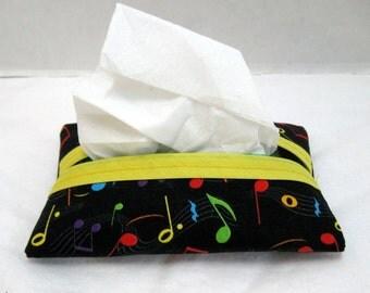 Tissue Holder Music Notes Pocket Size Tissue Case