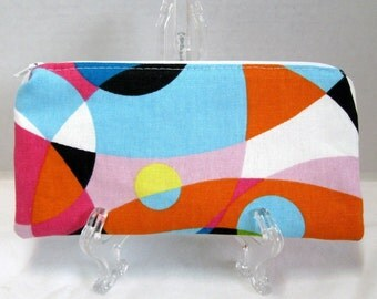 Kaleidoscope Zipper Pouch - Bright Zippered Pouch - Colorful Supply Bag - Bright Cash Holder - Bright Makeup Bag