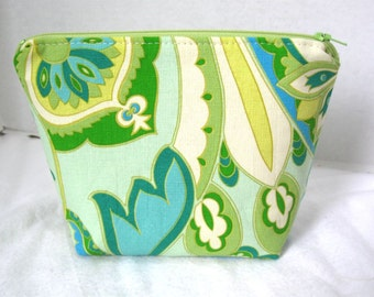 Make Up Bag Floral Retro Cosmetic Zippered Pouch