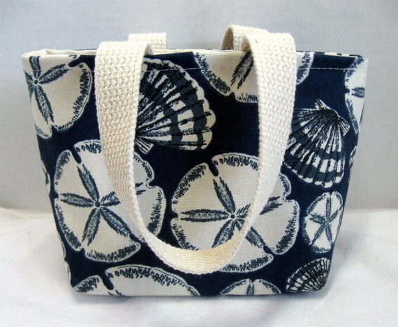 Tote Seashells Purse Sand Dollars Mini