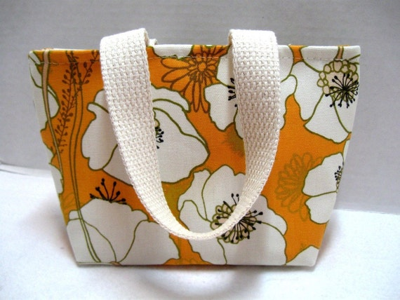 Poppy Mini Tote Purse Orange