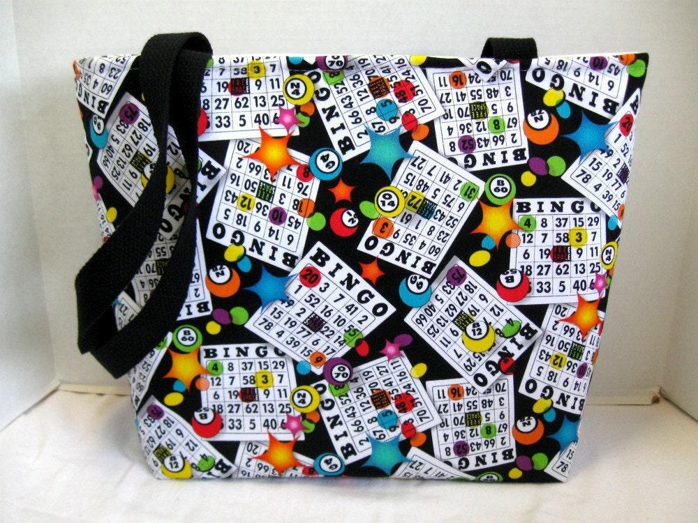 Large Bingo Tote Padded Bingo Bag Inside Pockets