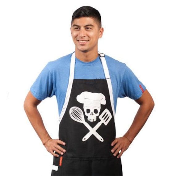 Pirate Chefs Grilling Apron, Black Apron, Pirate Skull Apron, Skull Grilling Apron, Apron