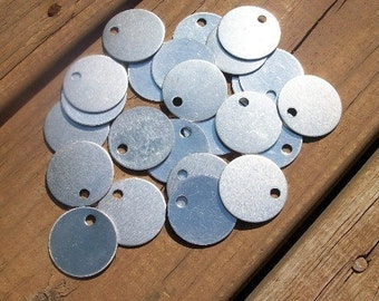 10 Aluminum 1.25 Inch Discs - 18 Gauge