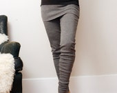 womens wool leggings in interlock with skirt and cuffs - made to order