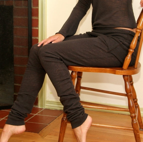 Sandmaiden Felted Wool Knit legging with foldover skirt - made to measure