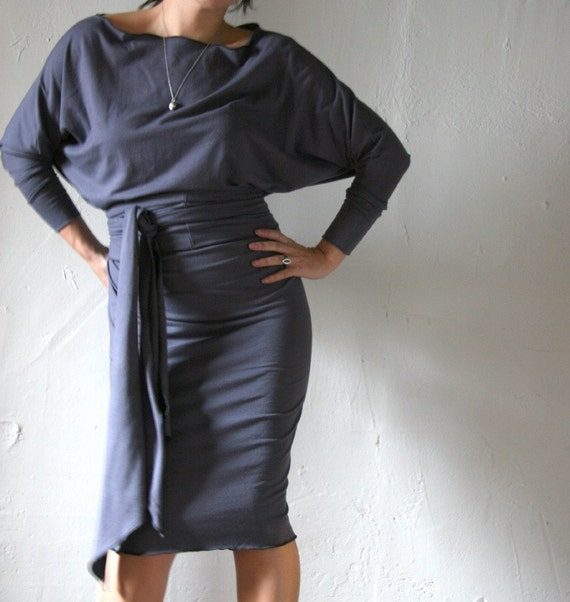 Sandmaiden soy and organic cotton dolman sleeve dress - made to measure