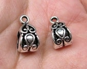 Ship from USA: 20pcs Tibetan Silver Pendant Bails Charm connector holder fits European snake chains