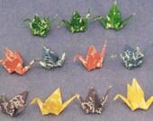 15 mini paper cranes