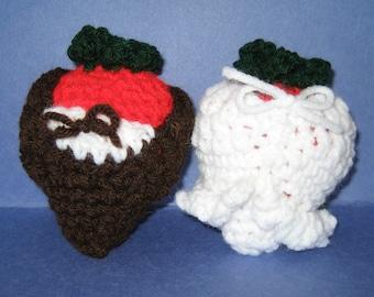 Crochet PDF Pattern- Crochet wedding strawberries dipping