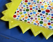 Cheerful Explosion - colorful, polka dot serving tray
