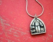 Genuine Porcelain Fairy/ Faerie Door Necklace