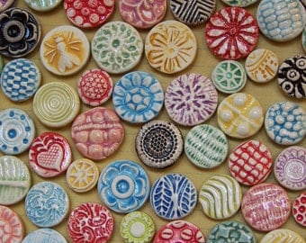 Button Magnets- rainbow colors