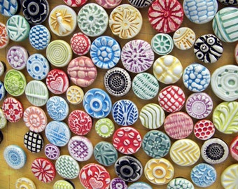 Colorful Collection of Pottery Magnets