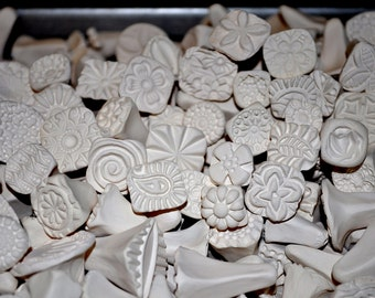 Wholesale Stamp Lot --- Handmade Clay stamps Clay Tools, Pottery Texture Tool, Stamps for DIY and all of your crafts
