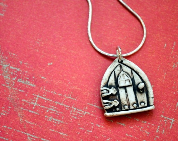 Genuine Porcelain Fairy/ Faerie Door Necklace