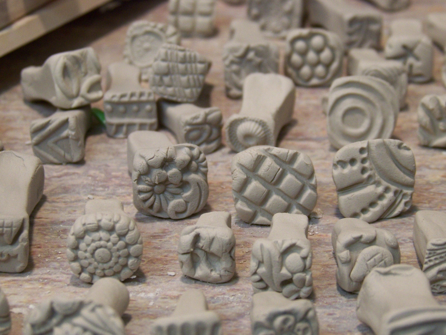 Bisque Stamps For Pottery Polymer Pmc Play Doh Fondant And
