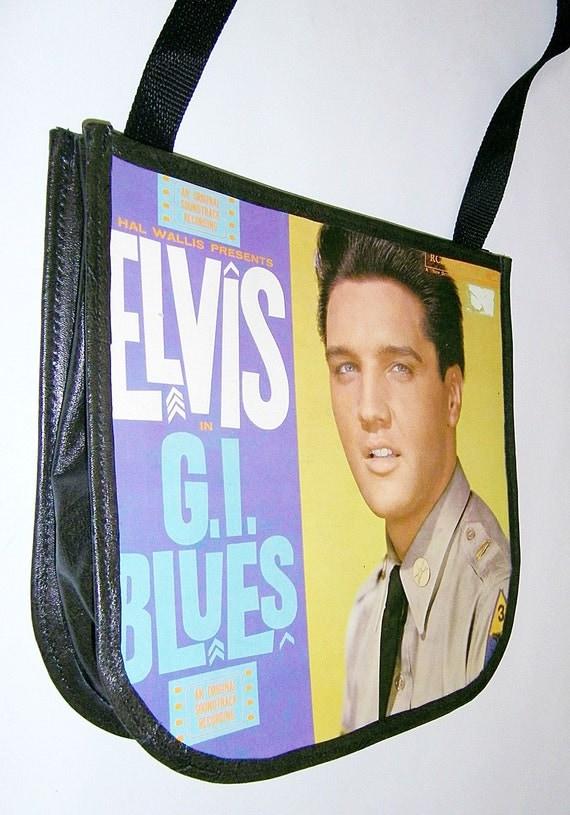Elvis Presley Record Handbag - GI Blues Vinyl Record Album Purse