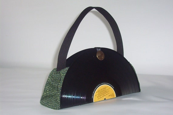 Recycled Vinyl Record Album Purse Handbag By Retrograndma