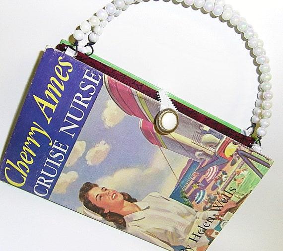 Book Purse - Cherry Ames Cruise Nurse - Book handbag 1948