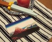 CLOSEOUT DISCOUNT - Postcard/Mini Print - Mt Fuji (gradient background)