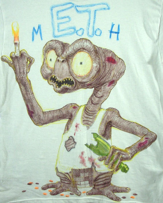 Hand Drawn Shirt - mE.T.h (Please specify your size)
