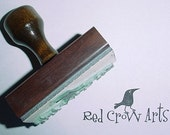 Custom made Mounted Rubber Stamp with Handle for you or your business
