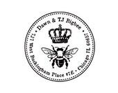 Queen Bee custom rubber stamp return address