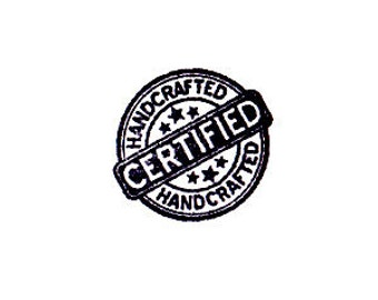certified handcrafted Rubber Stamp
