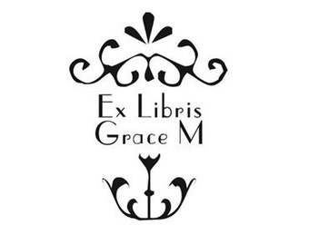 Ex Libris Stamp, Personalized Rubber Stamps, Custom