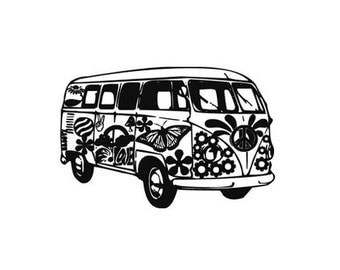 VW volkswagen bus rubber stamp Kombi