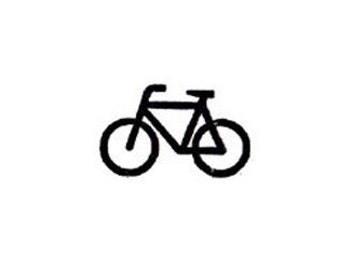 mini bike stamp bicycle rubber stamp