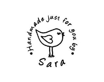 Custom Handmade just for you Personalized  Rubber Stamp whimsical bird
