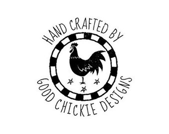chicken custom rubber stamp rooster