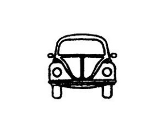 vw volkswagen bug beetle front end rubber stamp