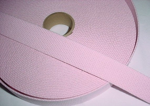 2 yards Soft Light Baby Pink  Cotton Webbing for Key Fobs and Purse Straps
